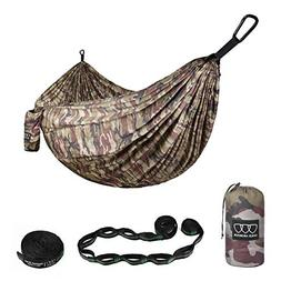 Gold Armour Camping Hammock - XL Double Parachute Camping Ha