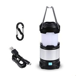 TRYLIGHT Camping Lantern, IPX5 Waterproof Portable LED Campi
