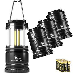 MalloMe LED Camping Lantern Flashlights 4 Pack - Super Brigh