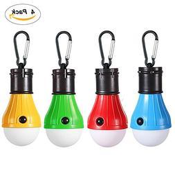 4 Pack LED Camping Lantern Portable Flashlight 3 Modes Lamp