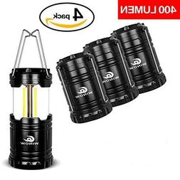 WINOW Camping Lantern 4 Pack Outdoor Portable LED Lantern Fl