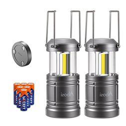 2 Pack Camping Lantern,Lantern Flashlights with 6 AA Batteri
