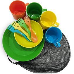 CrossHawk Camping Mess Kit | Premium Full Tableware Set With