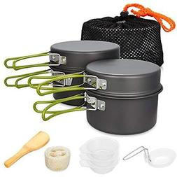 Camping Open Fire Cookware Set 4 Person Gear Campfire Utensi