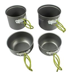 G4Free Outdoor Camping pan Hiking Cookware Backpacking Cooki