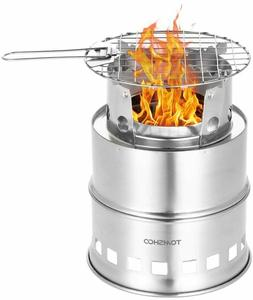 TOMSHOO Camping Stove Camp Wood Stove Portable Foldable Stai