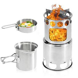 Camping Stove, Kekilo Backpacking Stove Portable Stainless S