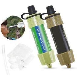 Camping Straw Water Filter Purifier Outdoor Hiking Filtratio