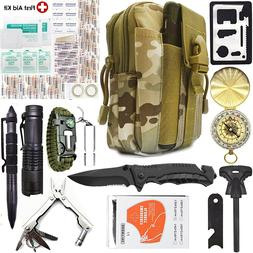 Camping Survival Kit 40 in 1 Outdoor Military Tactical Backp