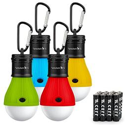 Camping Tent Lantern Bulb Lights - 4 Pack Multi Color - Port