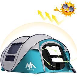 AYAMAYA Camping Tents 3-4 Person/People Easy Up Instant Setu