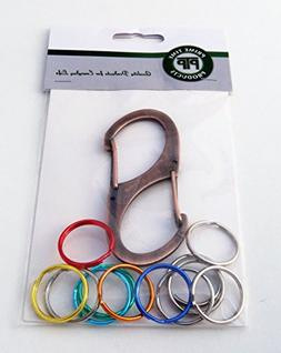Carabiner Keychain Hook With Multi Color Identification Syst