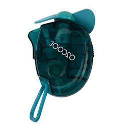 O2COOL Small Carabiner Keychain Misting Fan, Teal