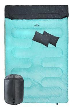 TETON Sports Cascade Double Sleeping Bag; Queen Size Sleepin