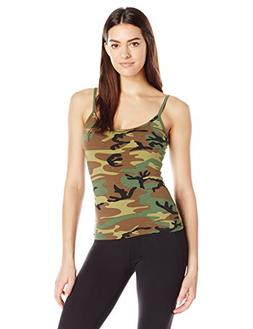 Rothco Women's Casual Tank Top, Woodland Camo, Medium