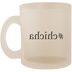 #chicha - Hashtag Frosted 10oz Glass Coffee Cup Mug
