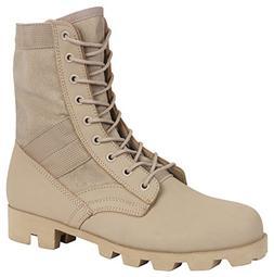 Rothco Classic Military Jungle Boots, Desert Tan, Size 5/Reg