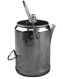 Coffee Pot 9-Cup Camping Percolator Coffee Pot Outdoors Tea