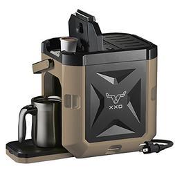 OXX COFFEEBOXX Job Site Single Serve Coffee Maker, Desert Ta