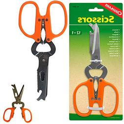 Coghlans 12In1 Stainless Steel Scissors Multitool Camping Sh