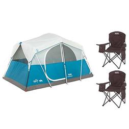Coleman Echo Lake 6 Person Fast Pitch Cabin Tent Plus 2  Bla