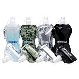 Activiva Collapsible Reusable Water Bottle with Carabiner Cl