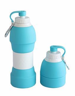LEWONDE Collapsible Water Bottle - BPA Free 20 OZ Travel Mug