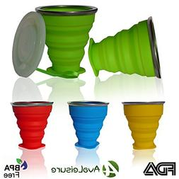 AVALEISURE COLLAPSIBLE TRAVEL CUP, the Genuine 10oz Drinking
