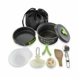 Cookware Mess Kit Camping Backpacking Outdoor Survival Gear