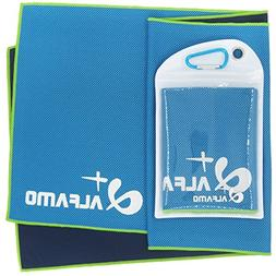 "Alfamo Cooling Workout Towel, 47""x14"" Gym Towel Cooling Clot"