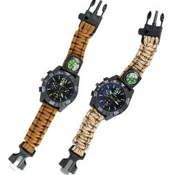 Coyote Ultimate Paracord Watch Travel Camping Survival Tacti