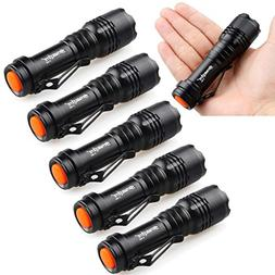 Cree Led Torch Light,Pack of 6PCS Glumes Super Bright Powerf