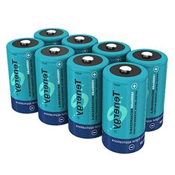 Tenergy 10000mAh NiMH D Battery, Rechargeable High Capacity