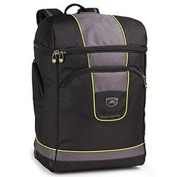 High Sierra Deluxe Bucket Boot Bag, Black/Charcoal/Chartreus