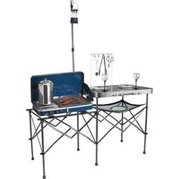 Ozark Trail Deluxe Portable Camp Kitchen Table Outdoor Cooki
