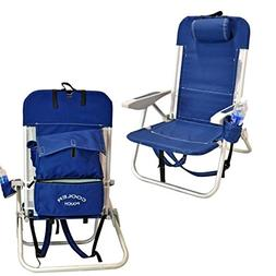 Deluxe WearEver Aluminum Backpack Chair with Large Storage P