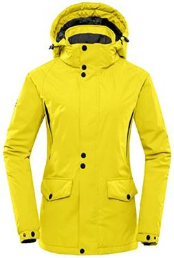 Wantdo Women's Winter Ski Jacket Hooded Mountain Waterproof