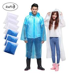 Honfill Disposable Rain Poncho, Soft Emergency Pocket poncho