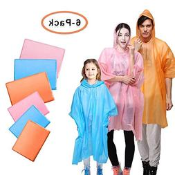 Disposable Rain Poncho - Emergency Lightweight Ponchos with