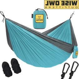 Wise Owl Outfitters Double 2-Person Camping Hammock Light Bl