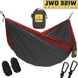 Wise Owl Outfitters Double 2-Person Camping Hammock Charcoal