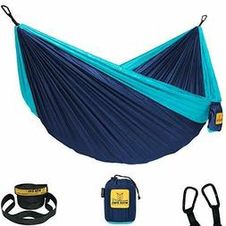 Wise Owl Outfitters Double 2-Person Camping Hammock Navy Blu