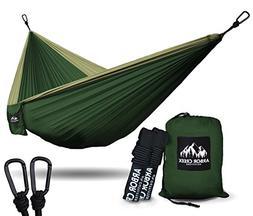 XL Double Camping Hammock - Heavy Duty and Ultralight Nylon