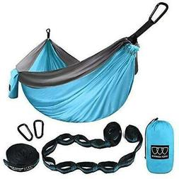 XL Double Parachute Camping Hammock - Tree Portable with Max