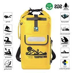 IDRYBAG Dry Bag Waterproof Backpack Floating 20L Roll Top Co