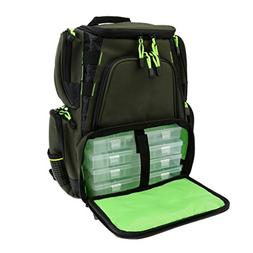 MagiDeal Durable Fishing Tackle Bag Storage Backpack with 4