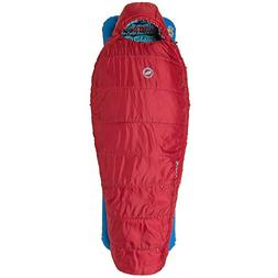 Big Agnes Duster 15 Kids' Synthetic Mummy Sleeping Bag, Red,