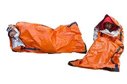 SE EB122OR-2 Emergency Sleeping Bag with Drawstring Carrying