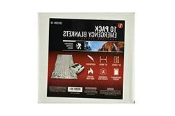 SE EB1309-10 Survivor Series Emergency Blanket, 10-Pack