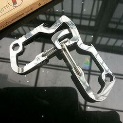 EDC Carabiner Survival Camping Hiking Rescue Gear Mini Keych